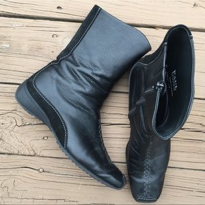 Paul Green Leather mid calf boots